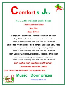 Comfort and Joy Christmas Show @ Monarch Public House | Fountain City | Wisconsin | United States
