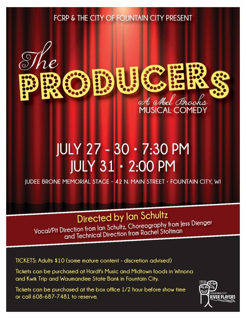 """The Producers"" Summer Production by Fountain City River Players @ Fountain City Auditorium 