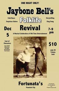Jaybone Bell's Folklife Revival @ Fortunata's Coffee House | Fountain City | Wisconsin | United States
