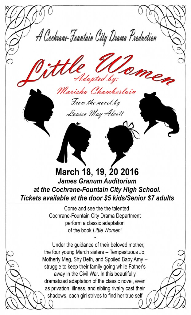 Little Women presented by CFC Drama Club @ CFC School | Fountain City | Wisconsin | United States
