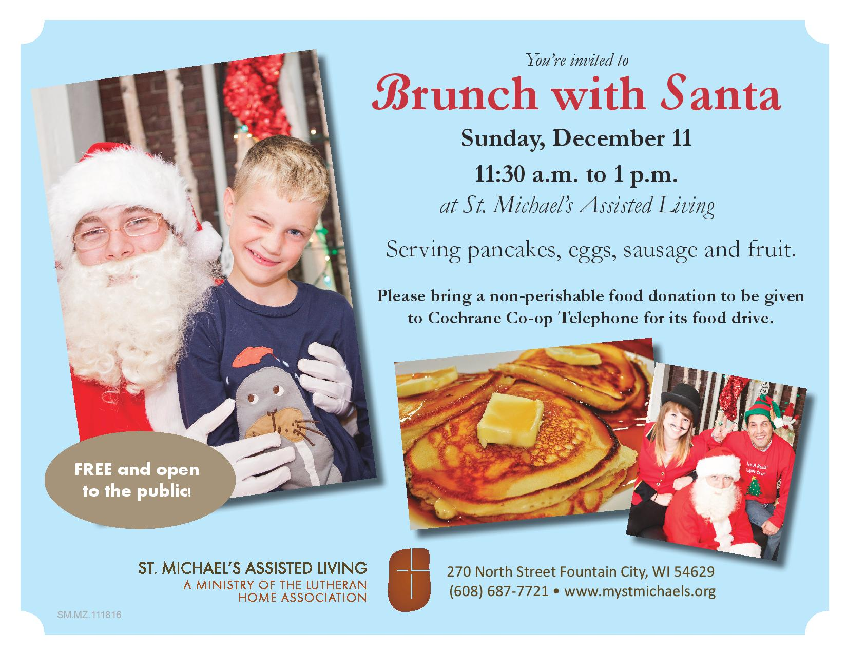 Breakfast with Santa @ St. Michael's Assisted Living | Fountain City | Wisconsin | United States