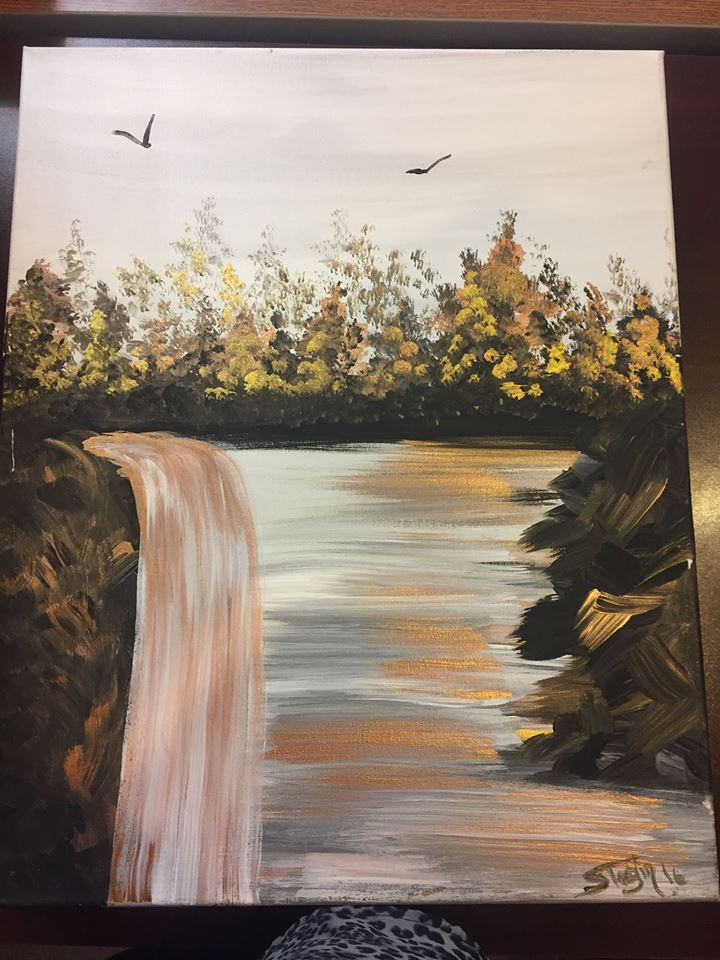 Backyard Brushes Painting Party @ The Golden Frog Saloon | Fountain City | Wisconsin | United States