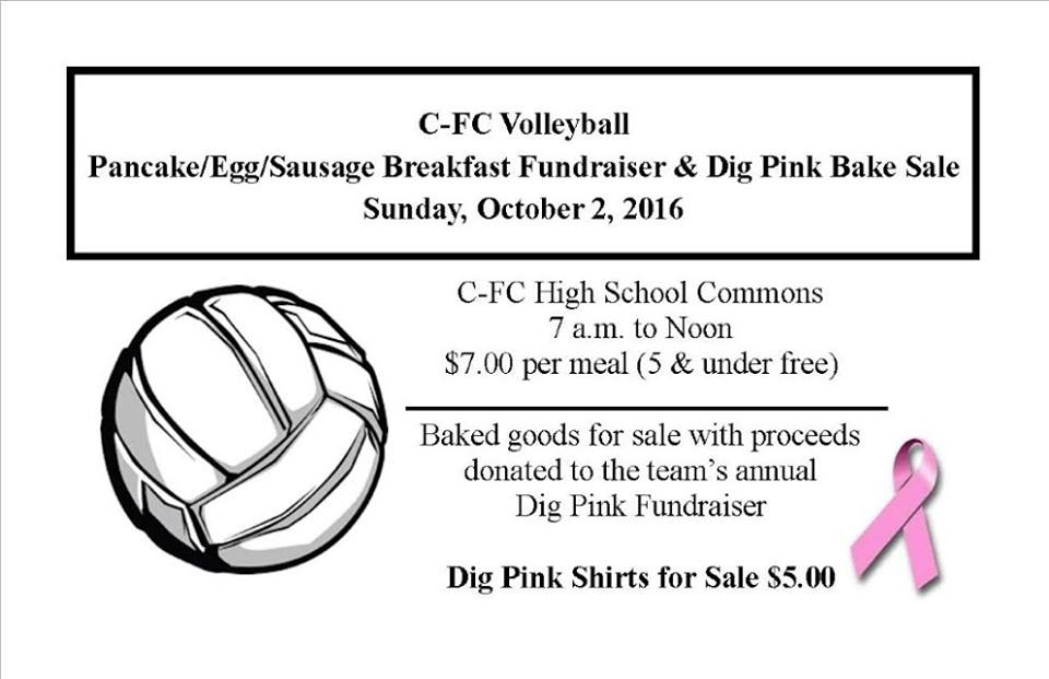 Pancake Breakfast & Dig Pink Bake Sale @ Cochrane Fountain City School | Fountain City | Wisconsin | United States