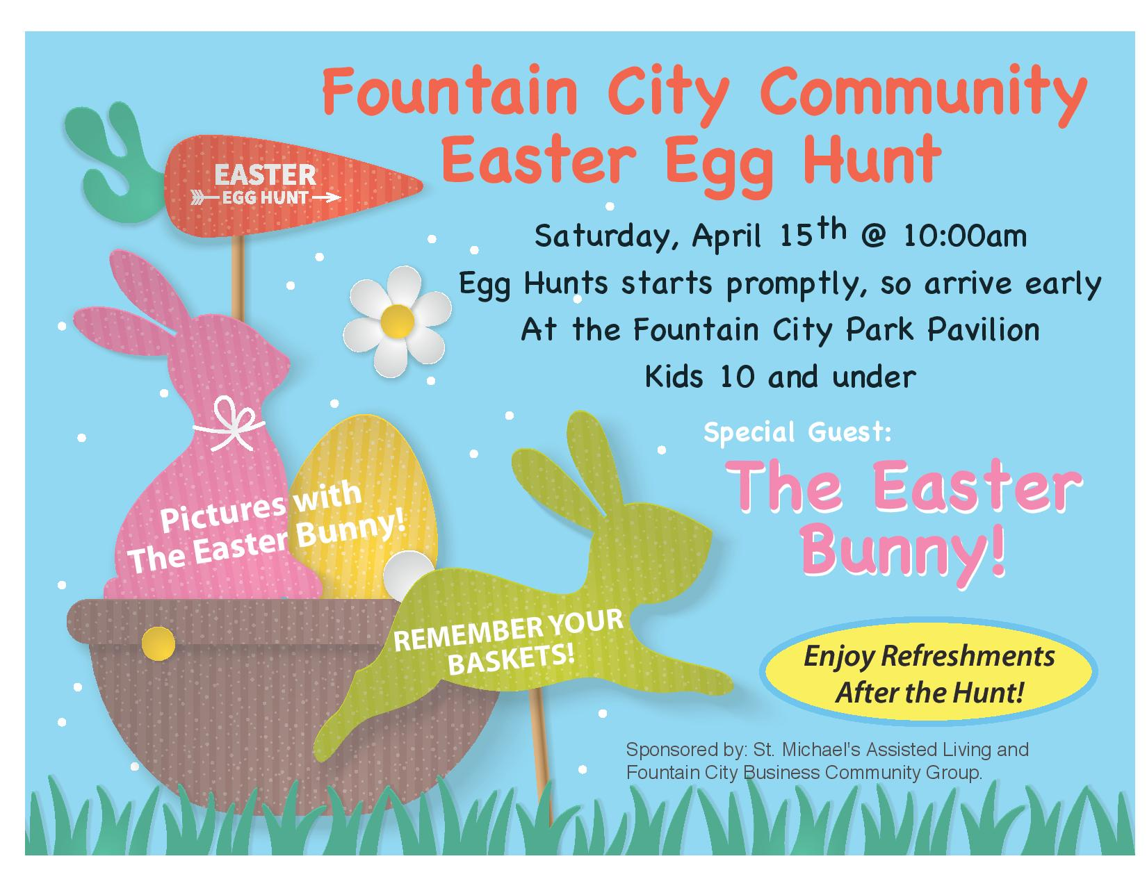 Fountain City Community Easter Egg Hunt @ Fountain City Community Park