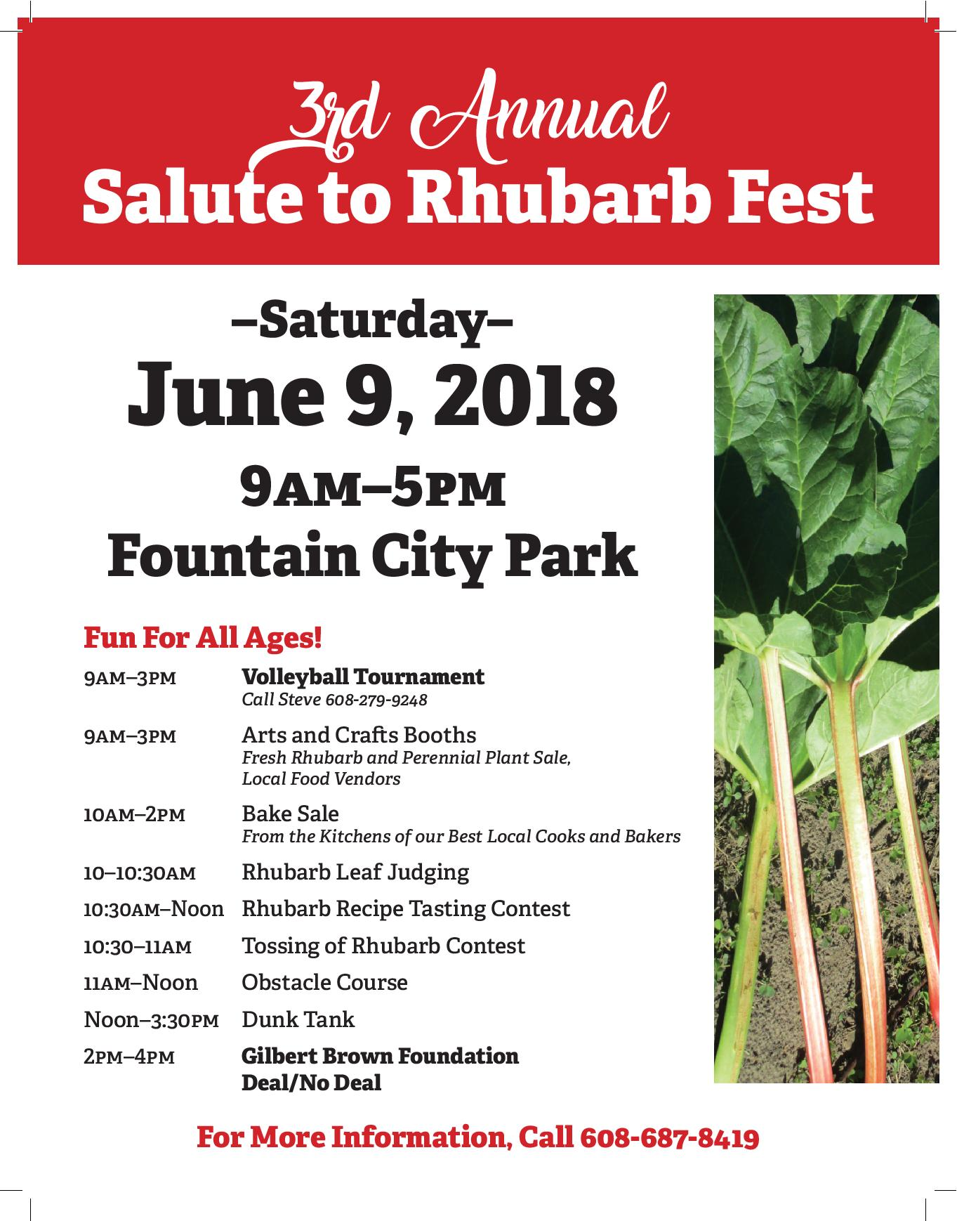 Salute to Rhubarb Festival @ Fountain City Community Park