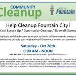 Cancelled – Community Fall Clean Up Day – October 28th