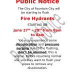 Hydrant Flushing June 27th & 28th