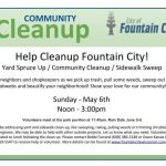 Help Cleanup Fountain City
