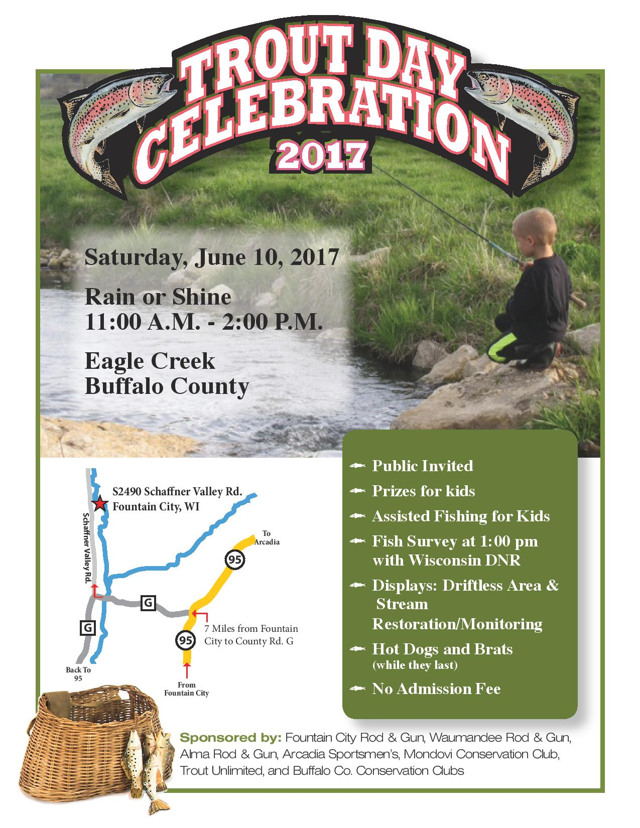 Trout Day Celebration 2017 @ Eagle Creek | Fountain City | Wisconsin | United States