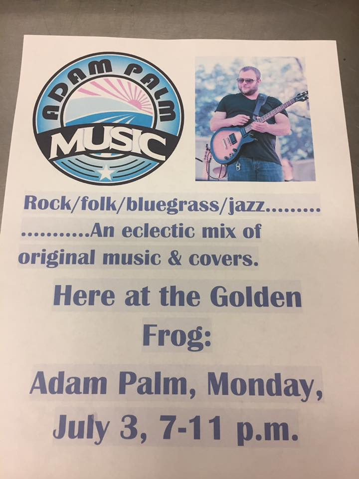 Music: Adam Palm @ The Golden Frog Saloon | Fountain City | Wisconsin | United States