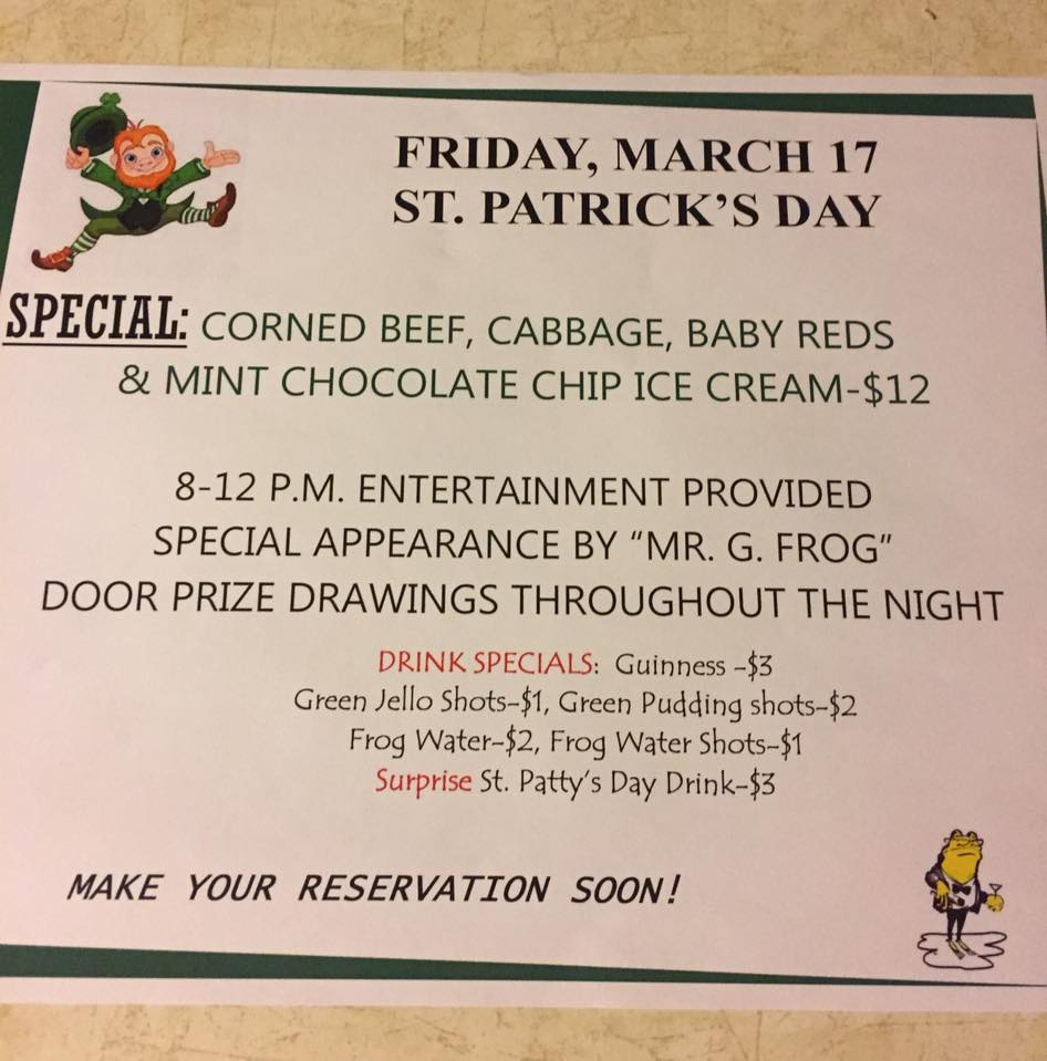 St Pat's @ The Golden Frog @ The Golden Frog | Fountain City | Wisconsin | United States