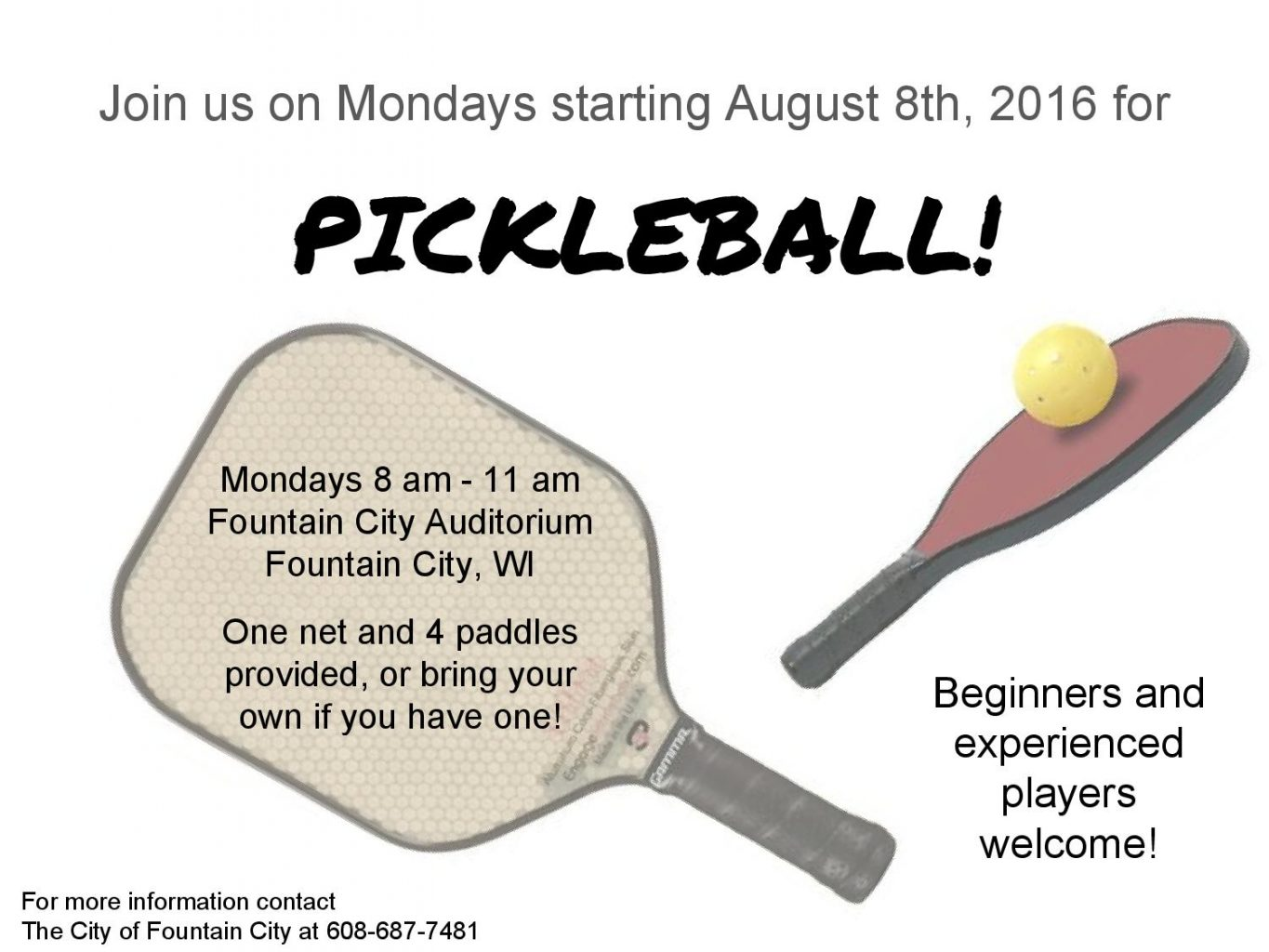 Pickleball @ Fountain City Auditorium