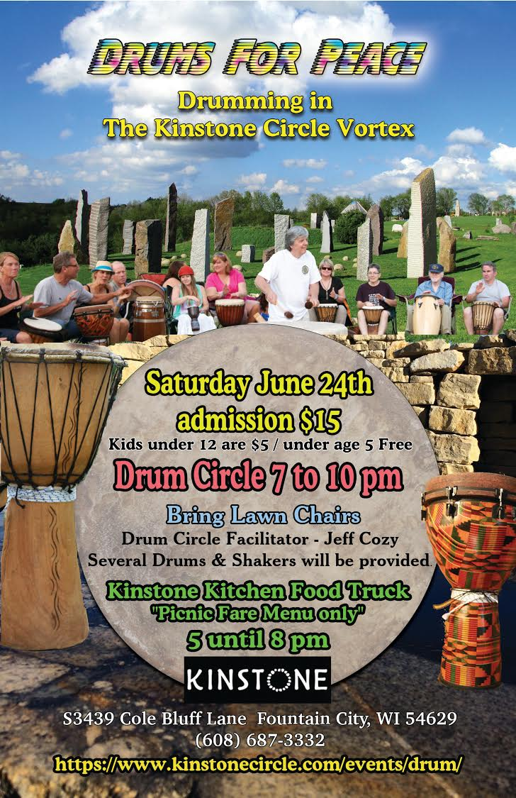 Drums for Peace @ Kinstone Megalithic Garden  | Fountain City | Wisconsin | United States